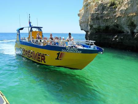 Von Albufeira: 2H30 Caves And Dolphin Watching Cruise