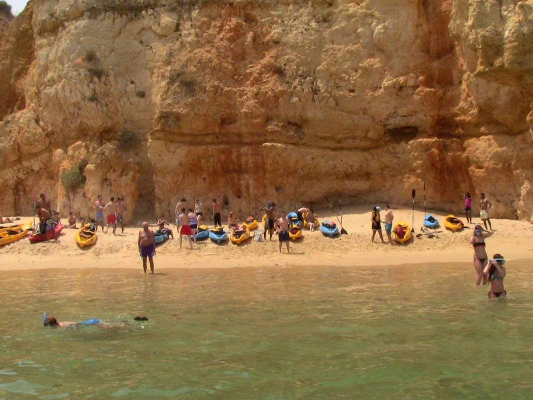 Kayak Snorkel Tour Inside Algarve's Sea Caves (Lagos)