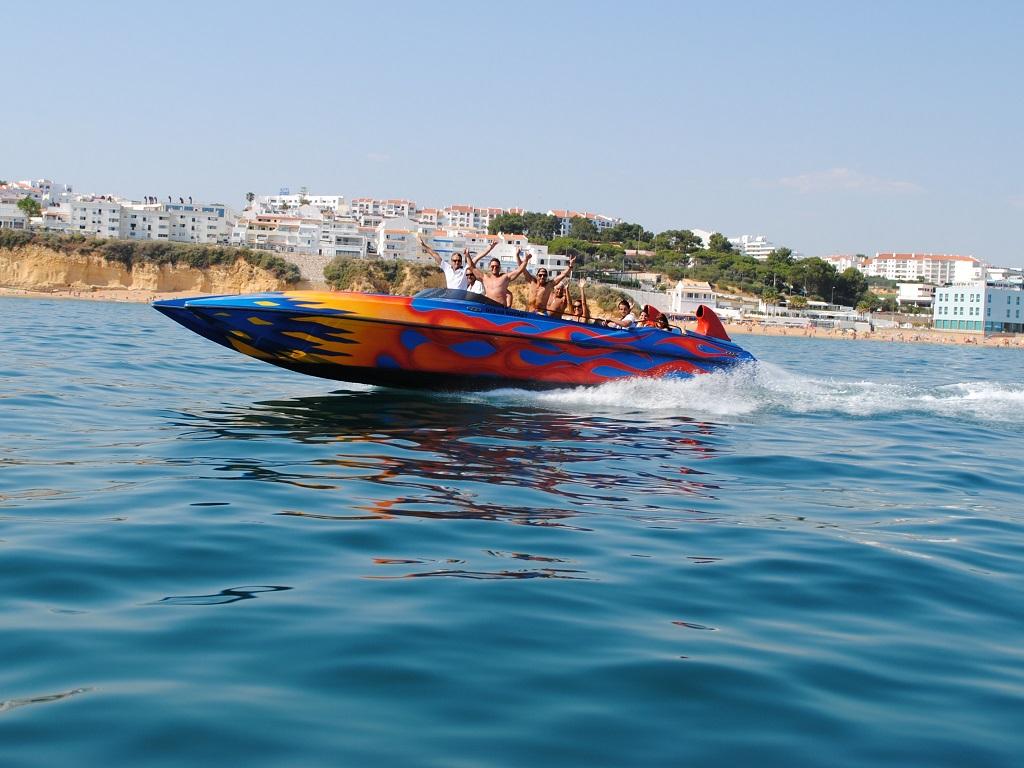 Albufeira: Ocean Rocket Boat Ride