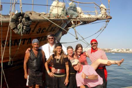 Algarve Caves Expedition On Board Of Santa Bernarda Pirate Ship