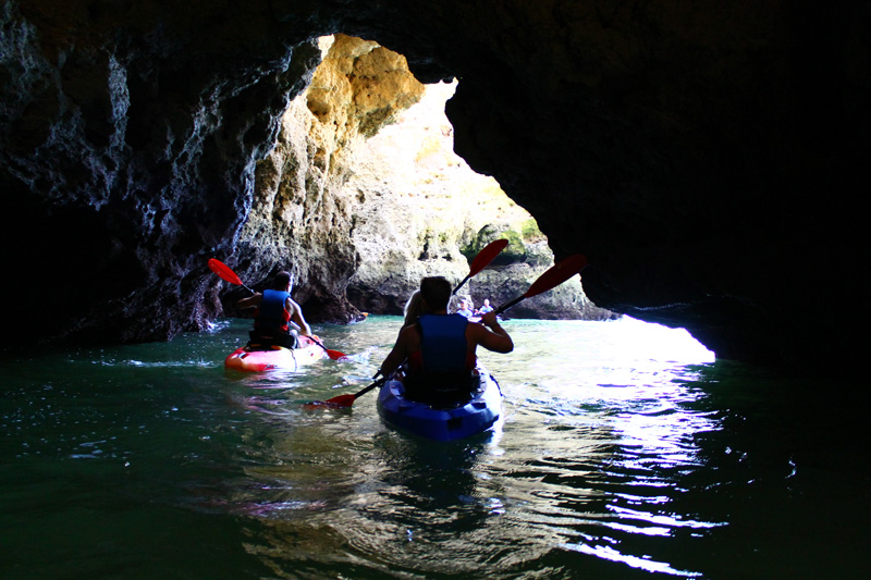 Kayaking inside caves Lagos