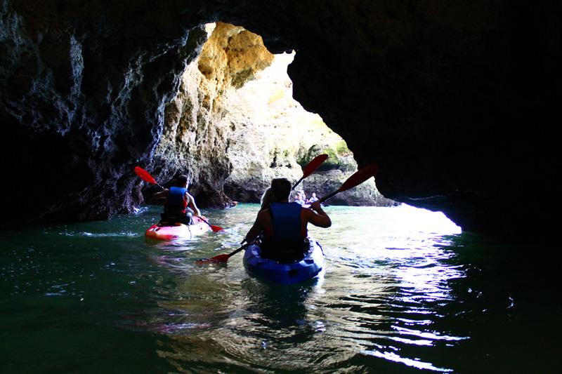 Kayaking inside caves Lagos