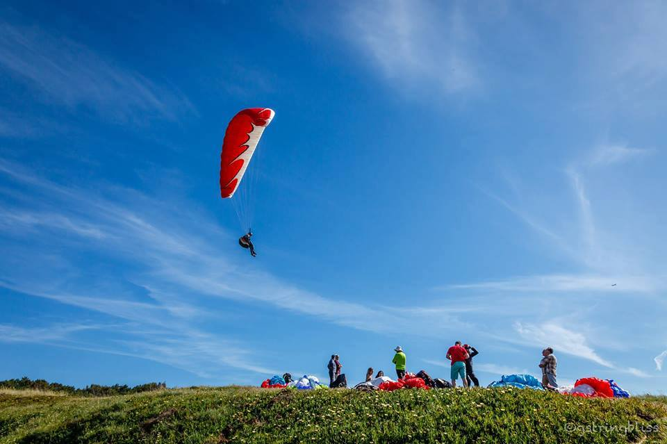Flight In Paragliding
