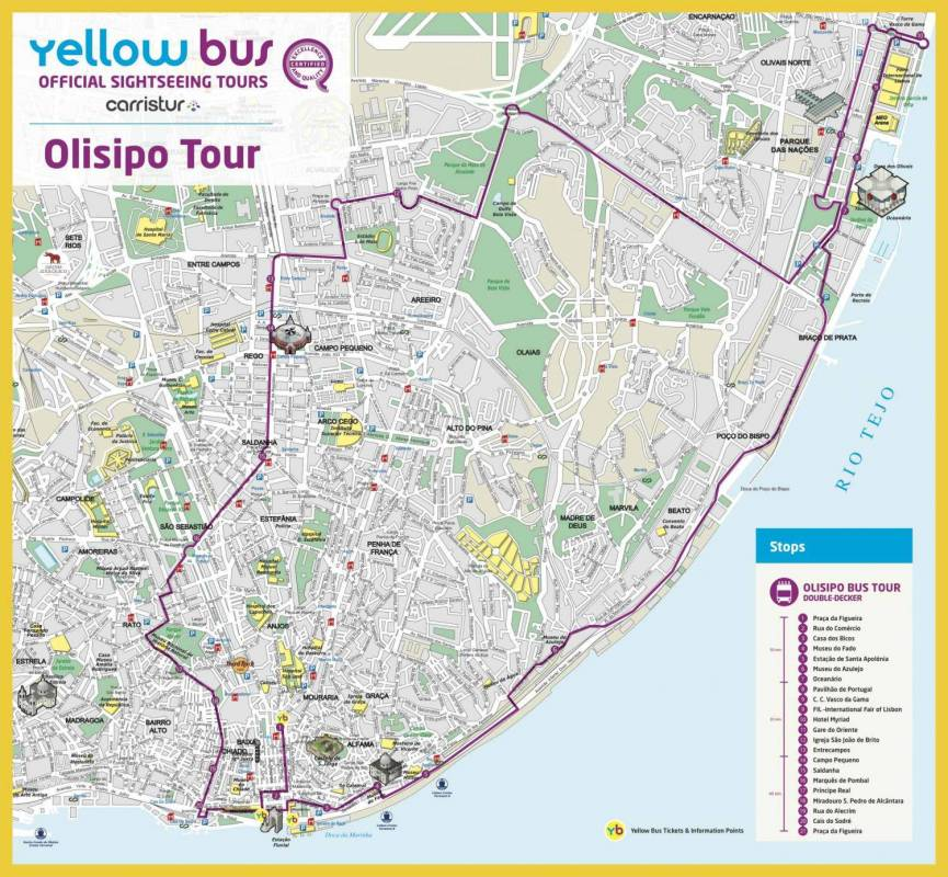 Lisbon HopOn HopOff Olisipo Bus Tour 24 Hours Ticket