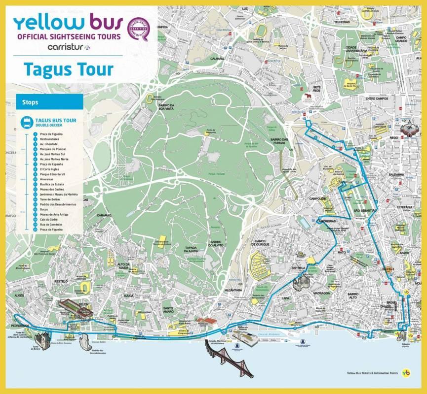 Tagus Tour Map