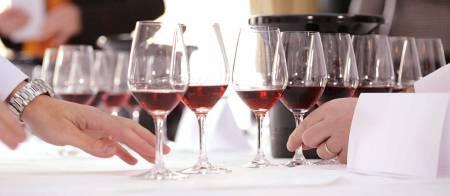 Wein-Verkostung Von Einem Glas Mit Snacks – Herdade Das Servas