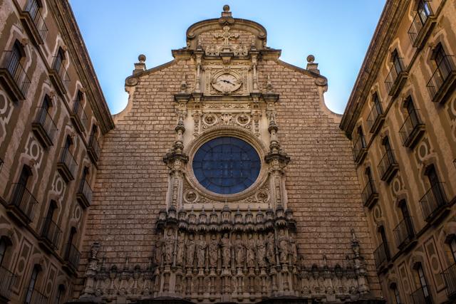 Barcelona Montserrat Portico Santuario