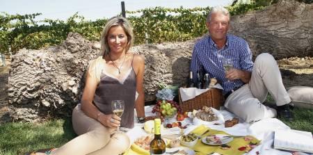 Traditionnel Pique-Nique Dans Les Vignes