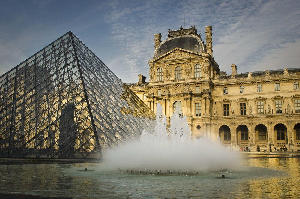 La fontaine du Louvre