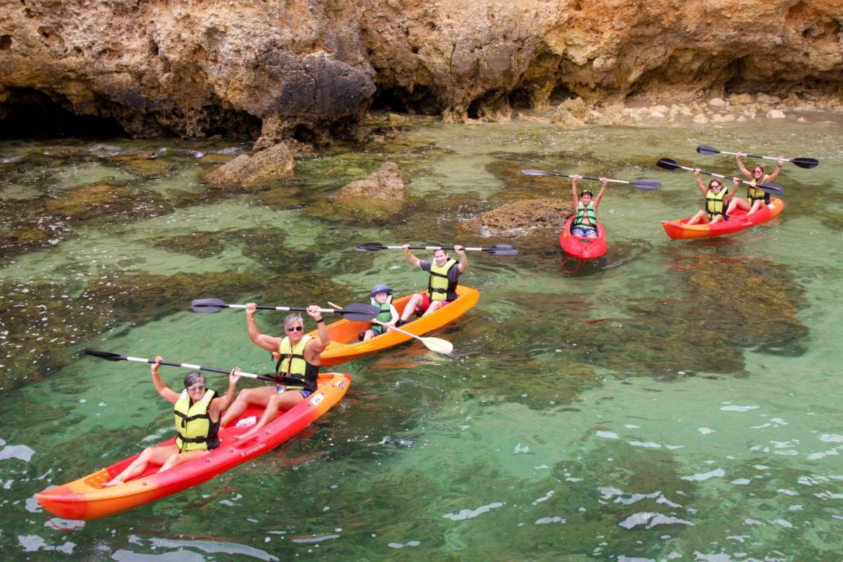 Kayaking in Carvoeiro