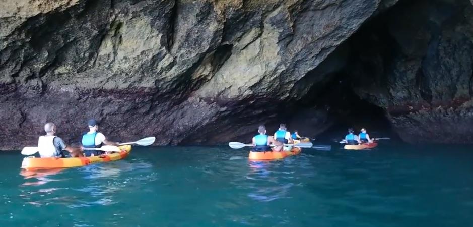 Caves Of Benagil In Kayak