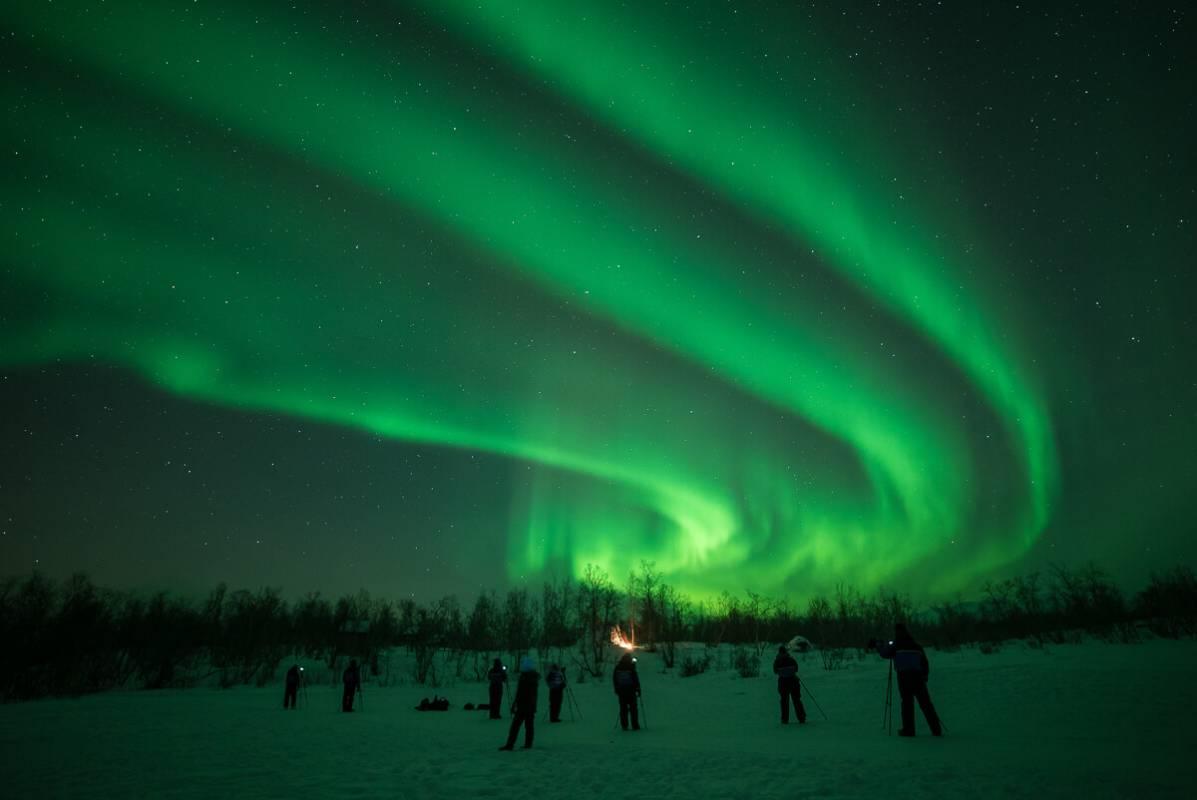 Nightly Aurora Photo Tour Lapland Abisko Sweden