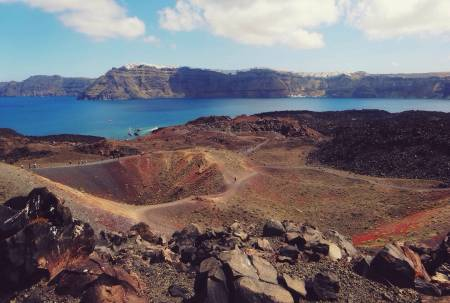 Volcano—Nea Kameni Santorino