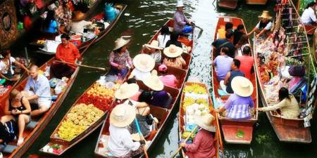 Full-Day Tour To The Dumnoen Saduak And Amphawa Floating Market