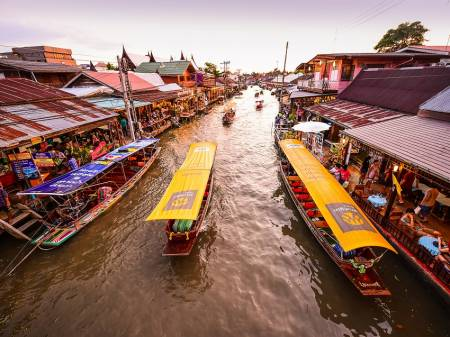 Half-Day Amphawa Floating Market And Fireflies Watching Tour From Hua Hin