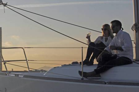 Sunset On The Sailboat Tour - Barcelona