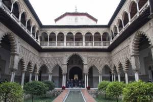 The Patio de las Doncellas in Seville's Real Alcazar