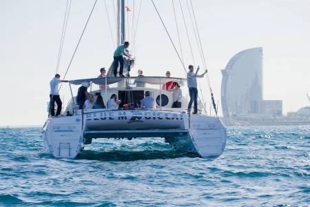 Barcelona: 3-Hour Private Cruise On A Luxury Catamaran