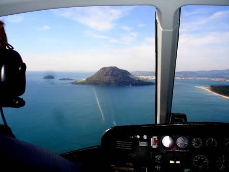 Colinas Papamoa, Vôo De Helicóptero