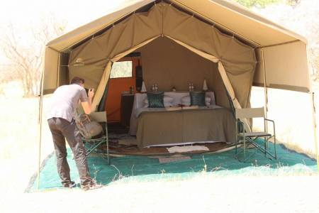 The Only Inland Delta In Africa, Okavango Delta 5 Nights 6 Days Luxury Mobile Tented Camping Safari!