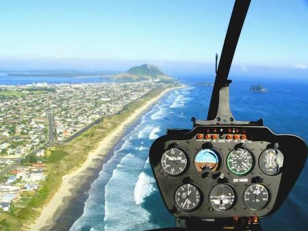 Mt Maunganui Y Ciudad De Tauranga, Vuelo De Helicóptero