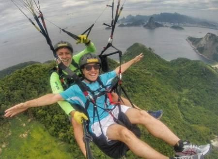 Tandem Paraglider Flight In Niterói – Rio De Janeiro – Brazil