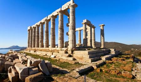 Half Day Sounio Tour (Taxi, 1-3 Passengers)