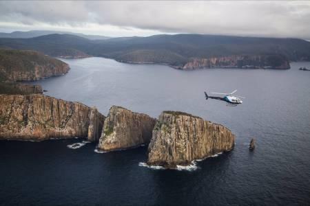 Helicopter Flight In Port Arthur, Tasmania