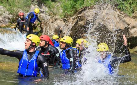 Basic Canyoning Practice On The Cetina River, Croatia