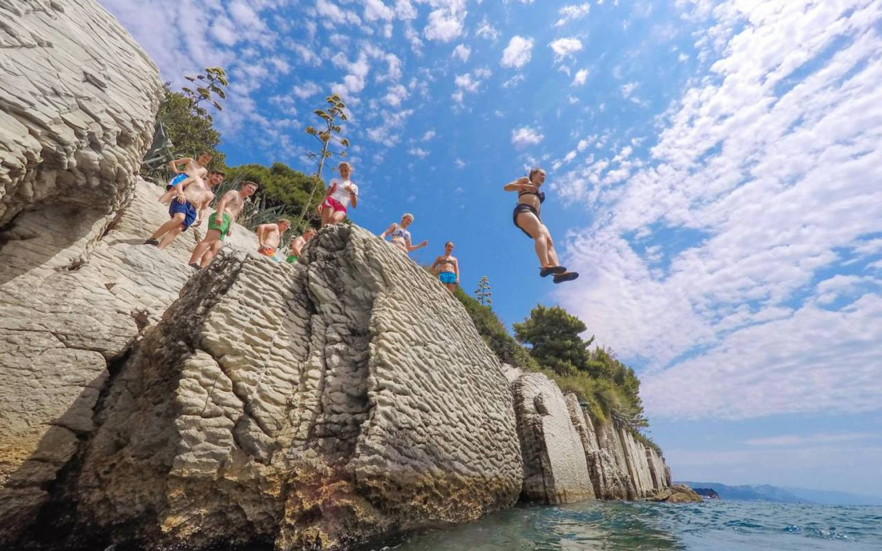 Cliff Jumping And Deep Water Soloing In Split, Croatia