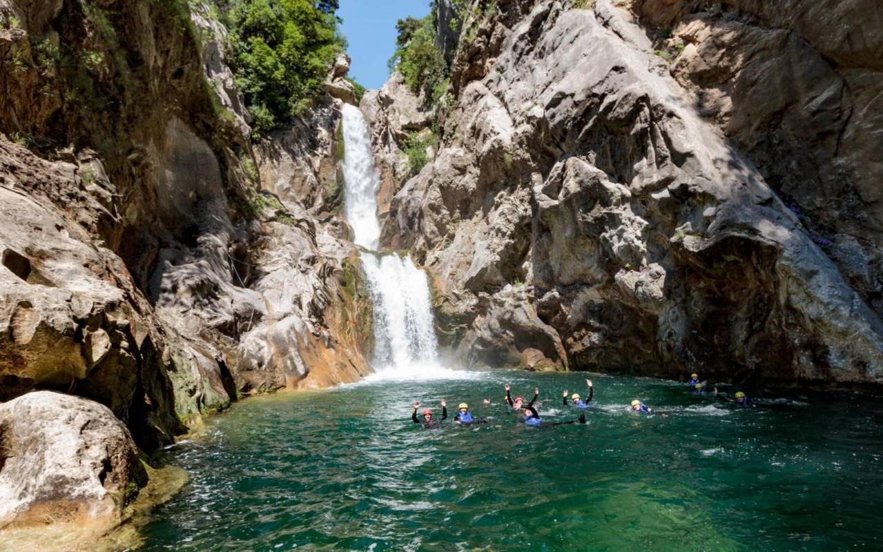 Extreme Canyoning Practice On The Cetina River, Croatia