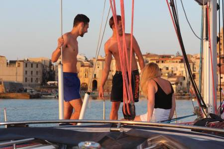 Sunset Tour On Luxury Sail Boat Along The Coast Of Cefalù