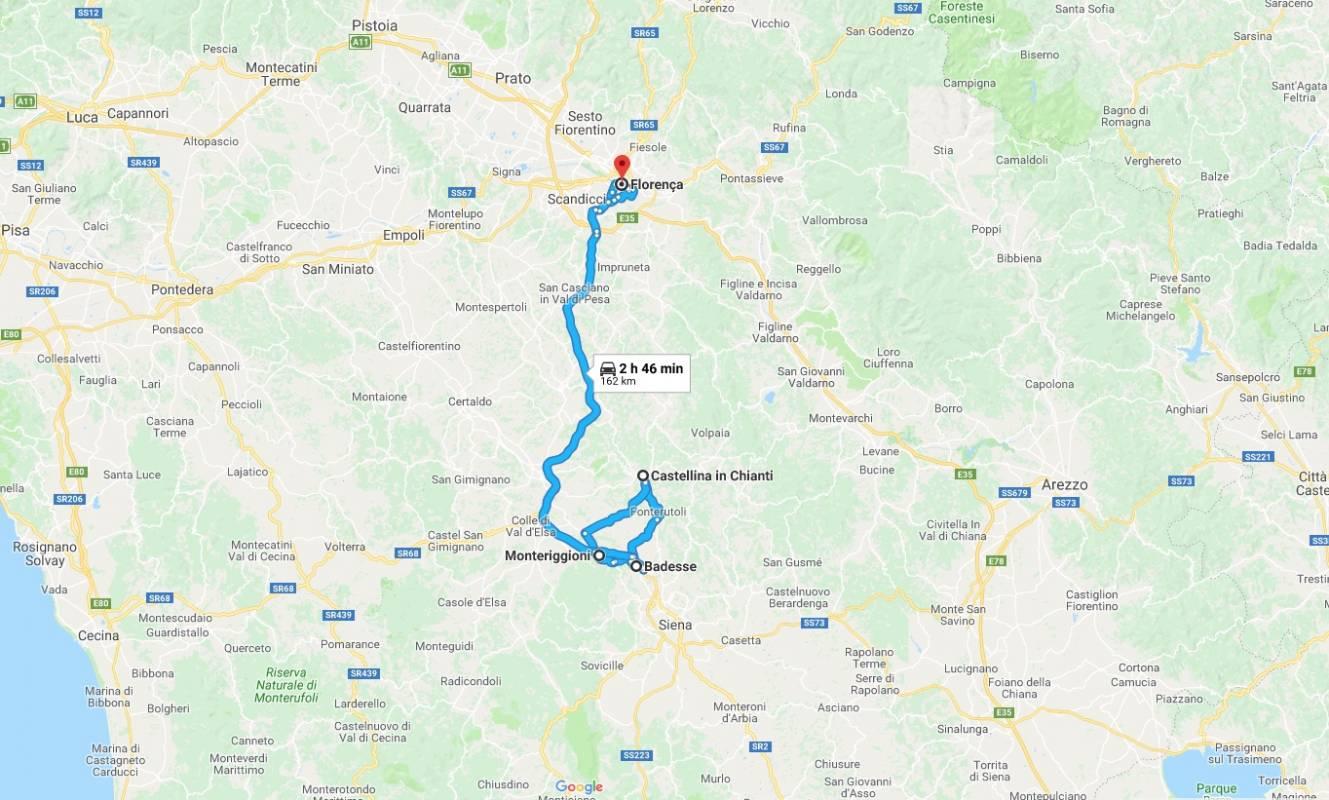 Itinerário-fiat-500