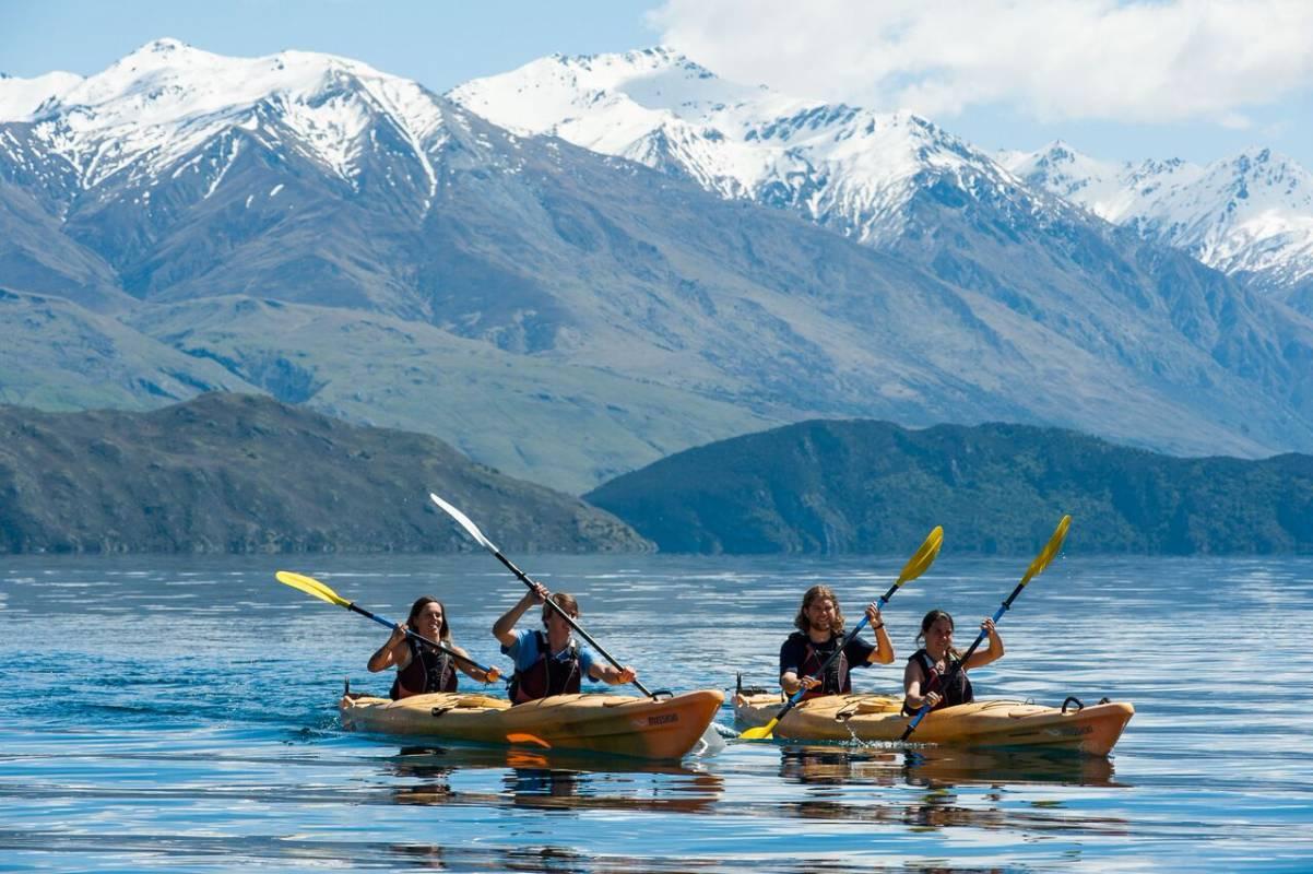 Tiki Tour - Guided Lake Wanaka Kayak Tour (Half Day)