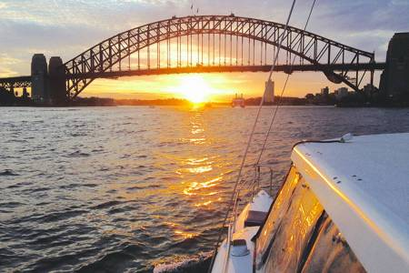 Sunset Cruise In The Sydney Harbour On Sailing Catamaran