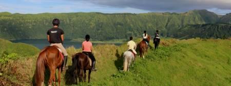 3H Randonnée Équestre À Lagoa Das Sete Cidades, São Miguel, Açores