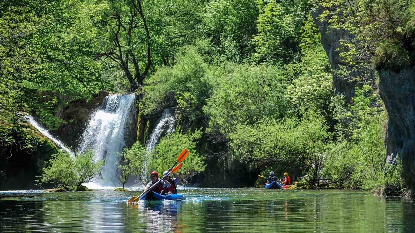 Kayaking Mreznica Canyon, Central Croatia