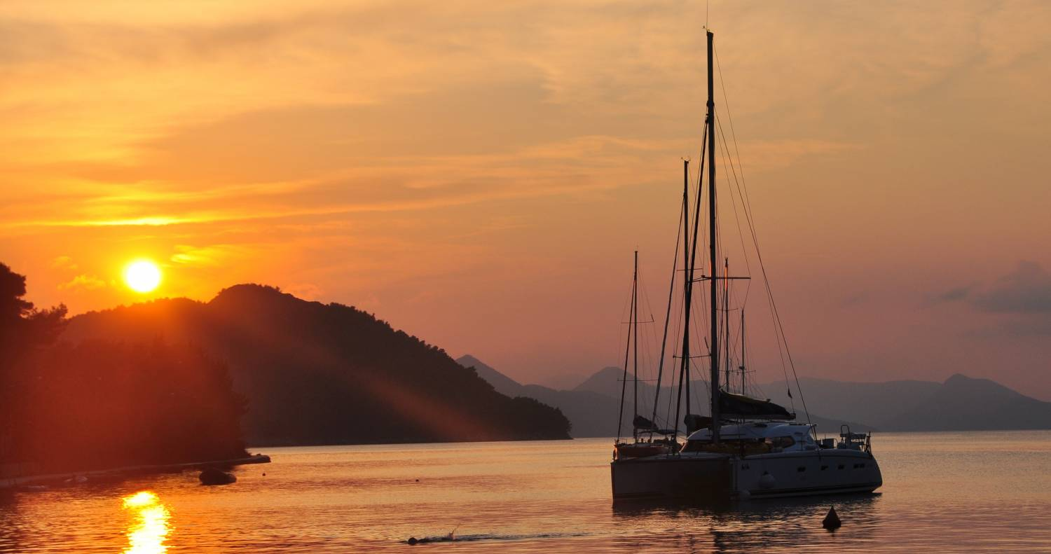 Sunset Sailing Elaphiti Islands, Croatia