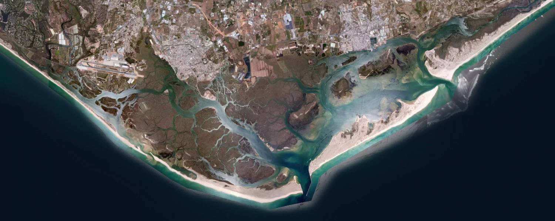ria formosa satelite view