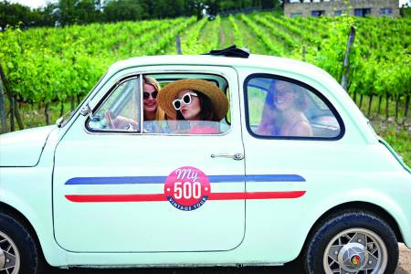 From Siena: Vintage Fiat 500 Tour In Chianti With Lunch At Winery