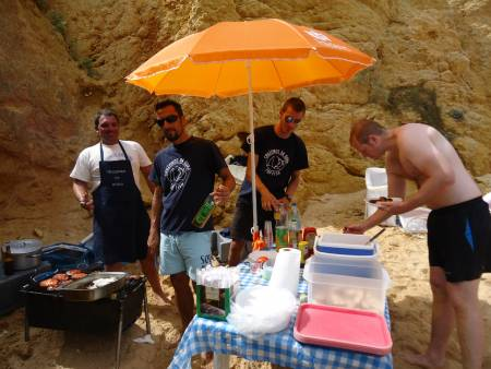 Full Day Catamaran Tour To The Benagil Cave & Barbecue On The Beach From Vilamoura