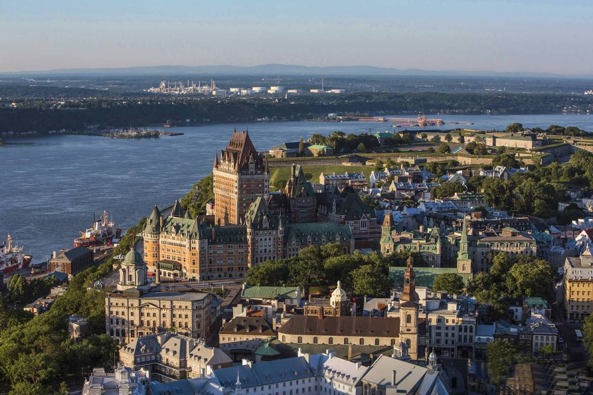 Quebec - The City And The River By Sky