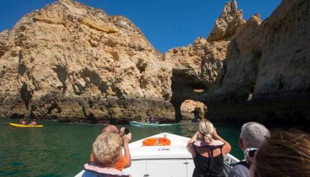 Boat Tour In The Grottos And Rock Formations Of Ponta Da Piedade From Lagos