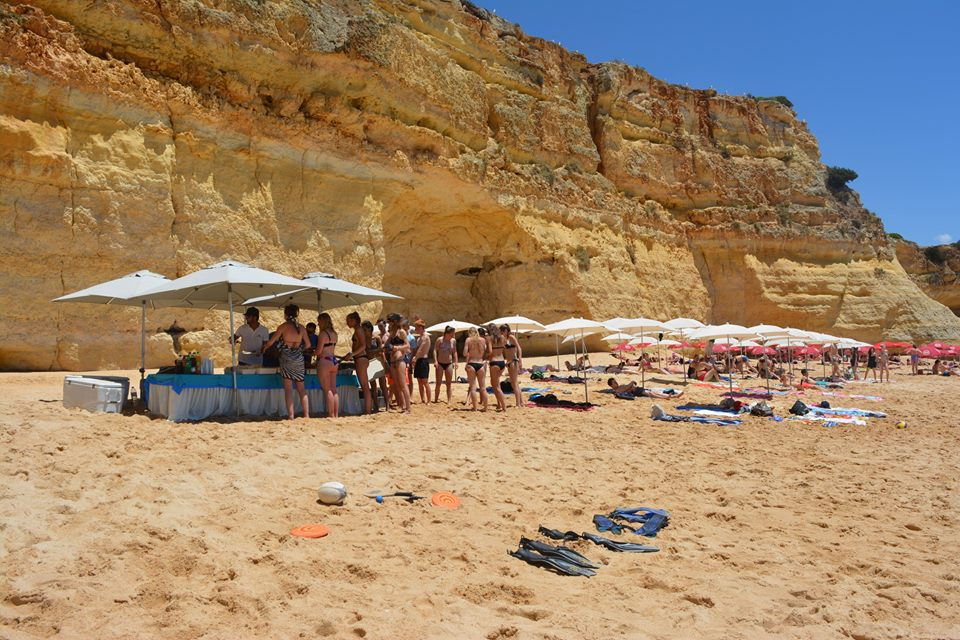 From Albufeira: Dolphin Watching Tour Of The Algarve On A Catamaran And Barbecue On The Beach