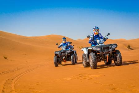 From Dubai: 1 Hour Quad Bike Driving Experience At Big Red Dune