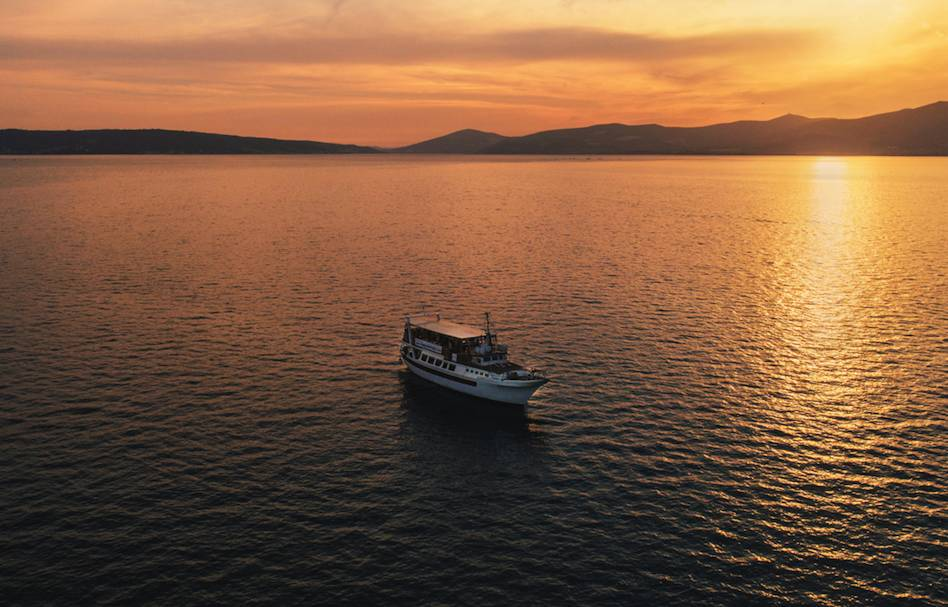 Sunset Cruise Along Split's Seafront