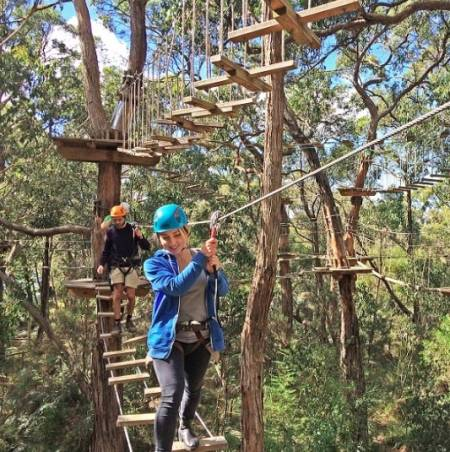From Melbourne: Tour To Enchanted Adventure Garden With Tree Surfing Grand Ticket