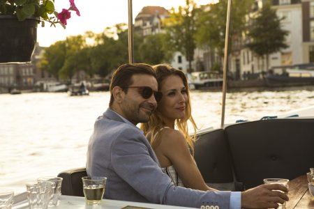 Romantische 90-Minütige Bootstour In Den Kanälen Von Amsterdam Mit Leckerbissen Und Getränken