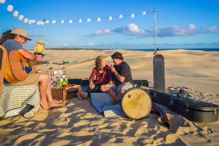 Picnic At The Sunset & Sandboarding In The Dunes Of Port Stephens