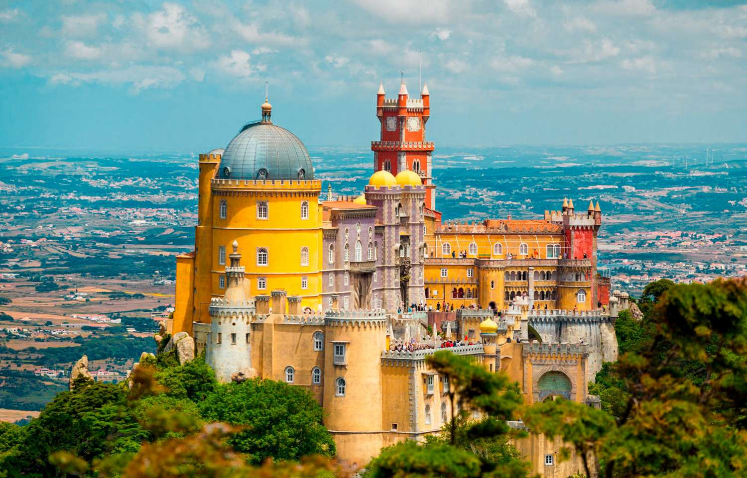The Pena Palace, Sintra's most famous attraction.